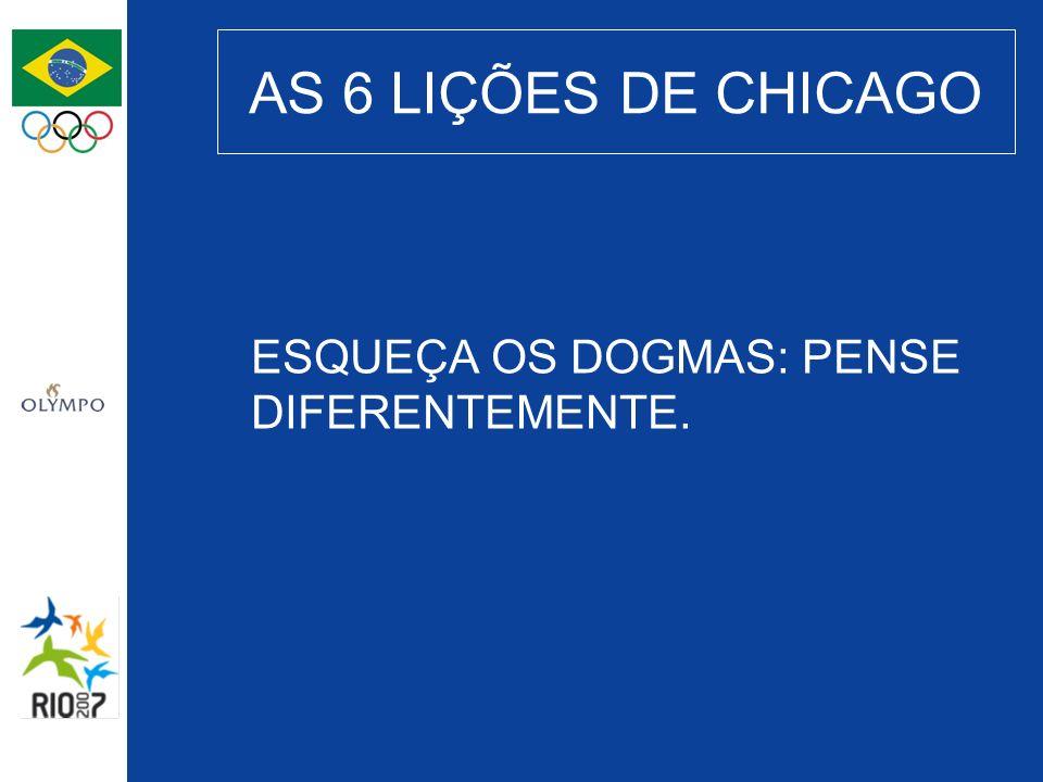 AS 6 LIÇÕES DE CHICAGO ESQUEÇA OS DOGMAS: PENSE DIFERENTEMENTE.