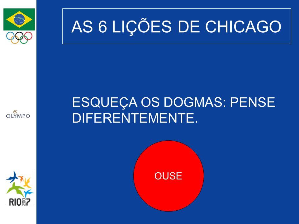AS 6 LIÇÕES DE CHICAGO ESQUEÇA OS DOGMAS: PENSE DIFERENTEMENTE. OUSE