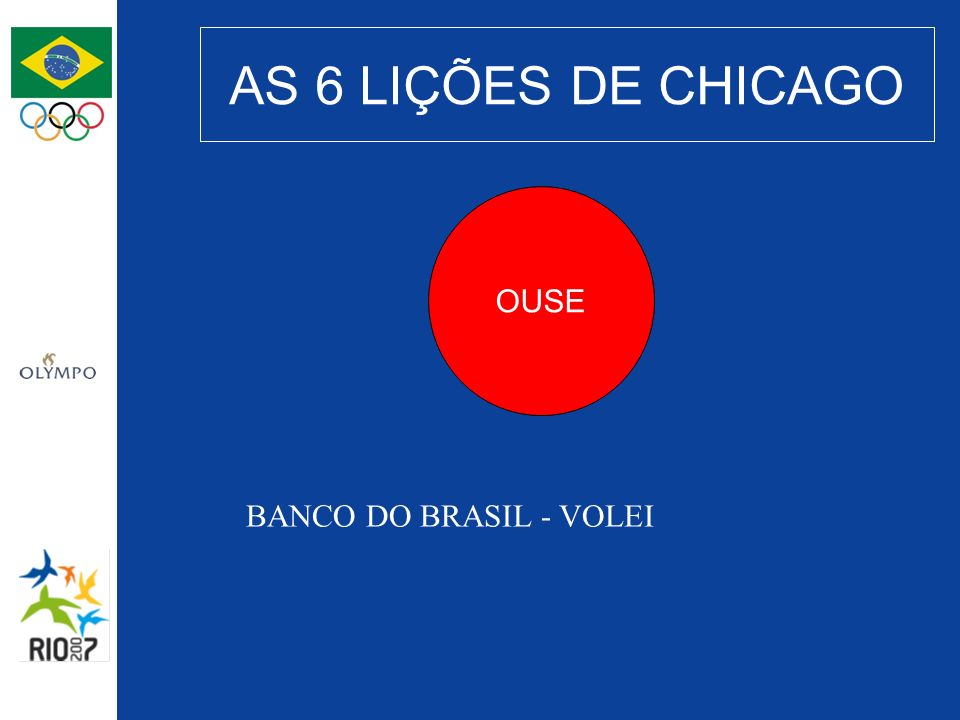 AS 6 LIÇÕES DE CHICAGO OUSE BANCO DO BRASIL - VOLEI