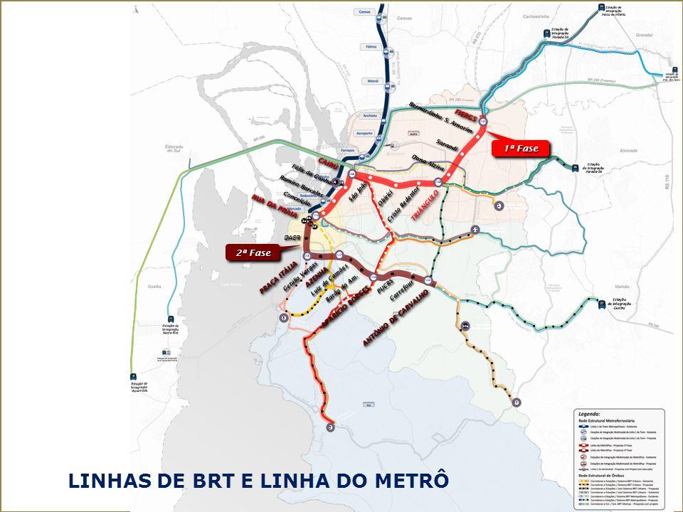 INFORMAÇÕES ADICIONAIS DISPONIBILIZADAS 1 - Especificação do Traçado definido (Fase 1 e Fase 2) 2 - Características básicas do material rodante (metrô-leve) 3 - Estudos de demanda 4 - PITMUrb (Plano Integrado de Transporte e Mobilidade Urbana) 5 - Funcionamento da Rede Integrada Multimodal (BRT e Copa2014) 6 - Modelo Tarifário por Ônibus de Porto Alegre 7 - Sistema de Bilhetagem 8 - Aporte Financeiro do Poder Público 9 – Caderno de Encargos da SMOV 10 - Outros estudos complementares efetuados pela Prefeitura de Porto Alegre