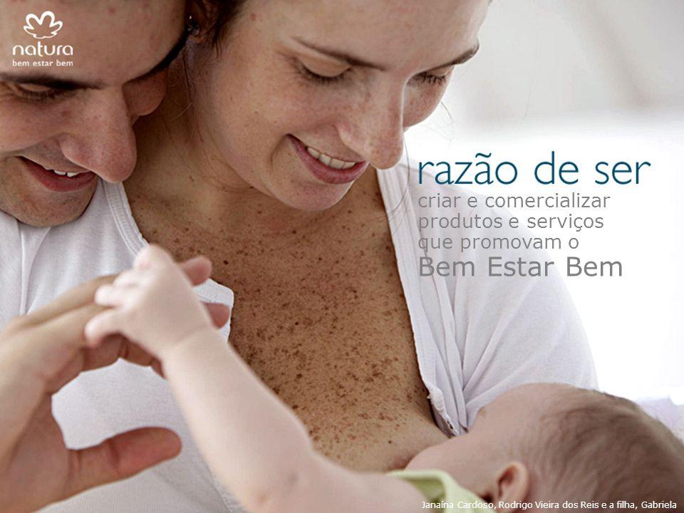 criar e comercializar produtos e serviços que promovam o Bem Estar Bem Janaína Cardoso, Rodrigo Vieira dos Reis e a filha, Gabriela
