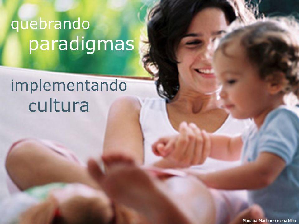 quebrando paradigmas implementando c ultura Mariana Machado e sua filha