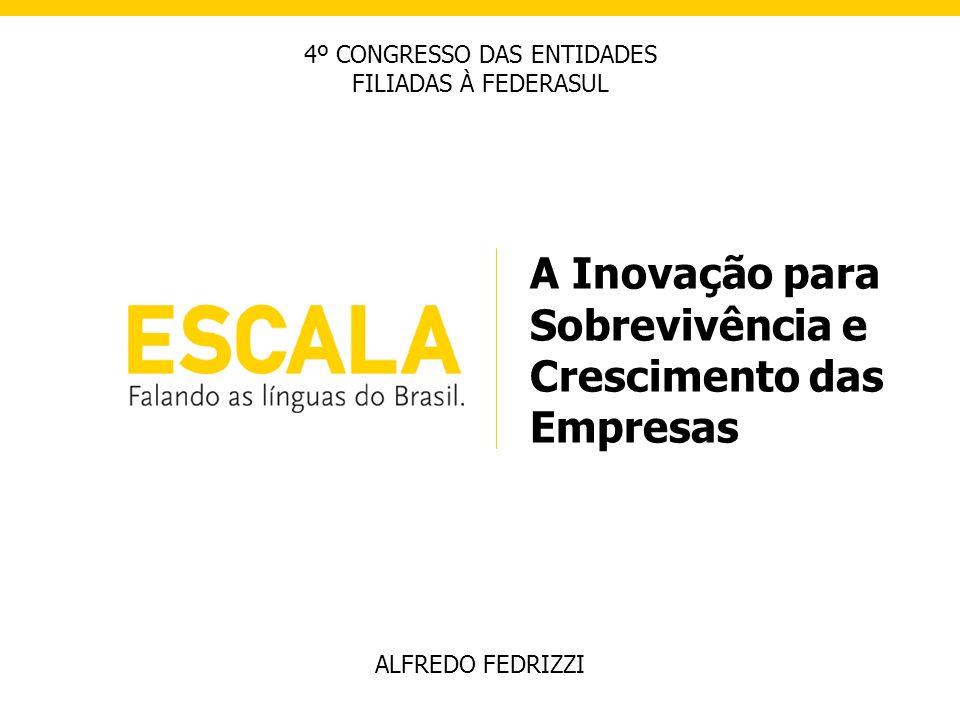A Inovação para Sobrevivência e Crescimento das Empresas ALFREDO FEDRIZZI 4º CONGRESSO DAS ENTIDADES FILIADAS À FEDERASUL