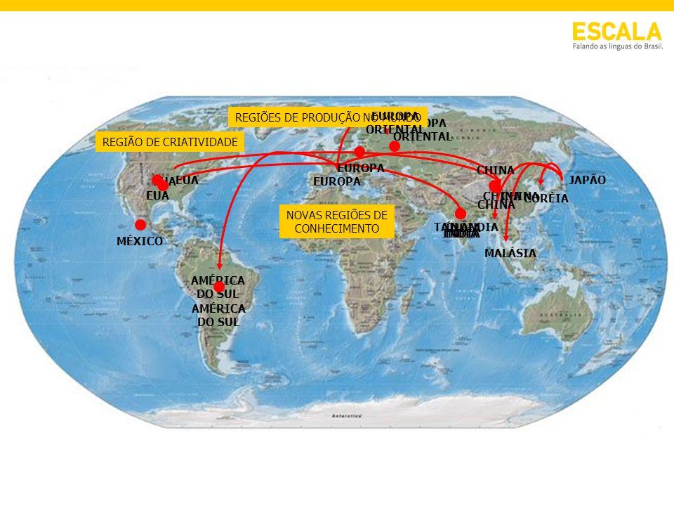 EUROPA ORIENTAL CHINA AMÉRICA DO SUL JAPÃO MALÁSIA TAILÂNDIA CORÉIA EUA CHINA ÍNDIA REGIÕES DE PRODUÇÃO NO MUNDO AMÉRICA DO SUL EUROPA INDÍA CHINA MÉX