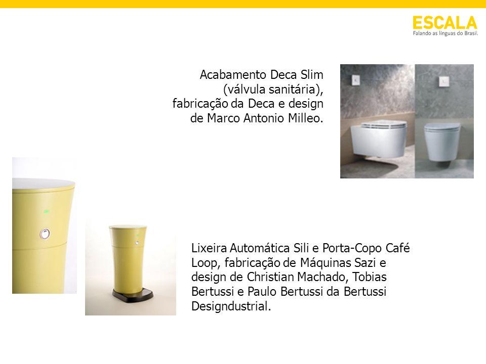 Lixeira Automática Sili e Porta-Copo Café Loop, fabricação de Máquinas Sazi e design de Christian Machado, Tobias Bertussi e Paulo Bertussi da Bertuss