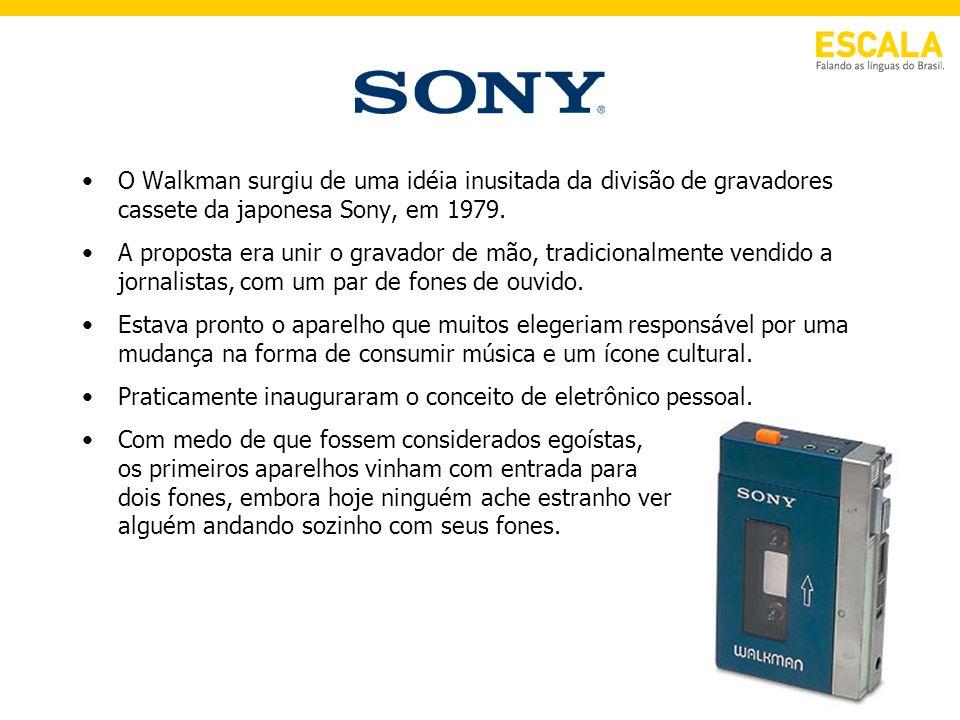 O Walkman surgiu de uma idéia inusitada da divisão de gravadores cassete da japonesa Sony, em 1979. A proposta era unir o gravador de mão, tradicional