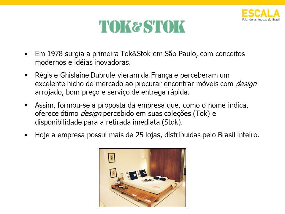 Em 1978 surgia a primeira Tok&Stok em São Paulo, com conceitos modernos e idéias inovadoras. Régis e Ghislaine Dubrule vieram da França e perceberam u