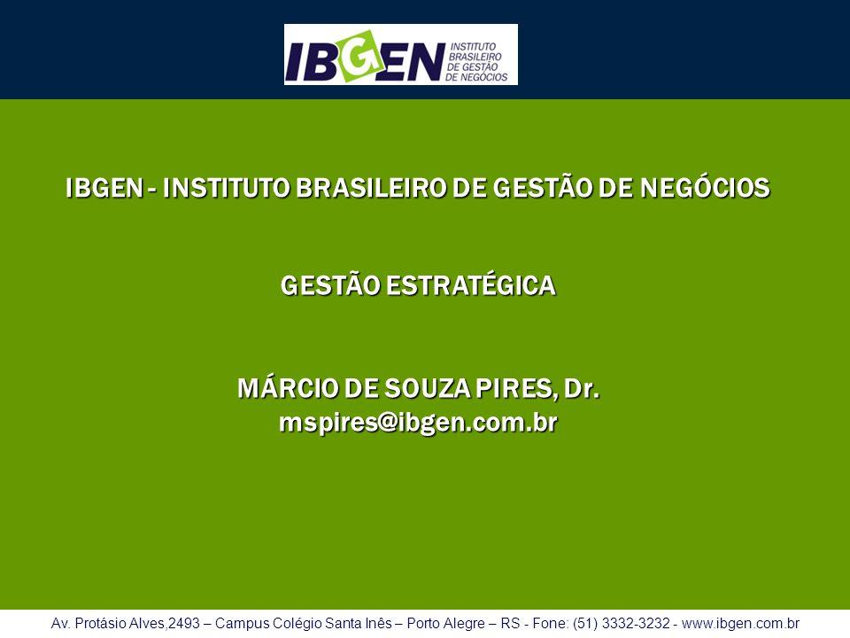 IBGEN - INSTITUTO BRASILEIRO DE GESTÃO DE NEGÓCIOS Av. Protásio Alves,2493 – Campus Colégio Santa Inês – Porto Alegre – RS - Fone: (51) 3332-3232 - ww