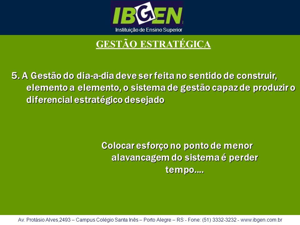 Instituição de Ensino Superior Av. Protásio Alves,2493 – Campus Colégio Santa Inês – Porto Alegre – RS - Fone: (51) 3332-3232 - www.ibgen.com.br GESTÃ
