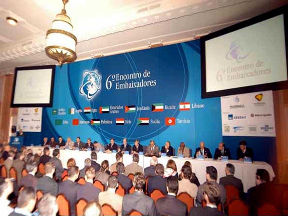 ENCONTRO DE EMBAIXADORES seminário de importação, exportação e estabelecimento de parcerias com outros mercados CENTRO DE NEGÓCIOS locação de espaços,