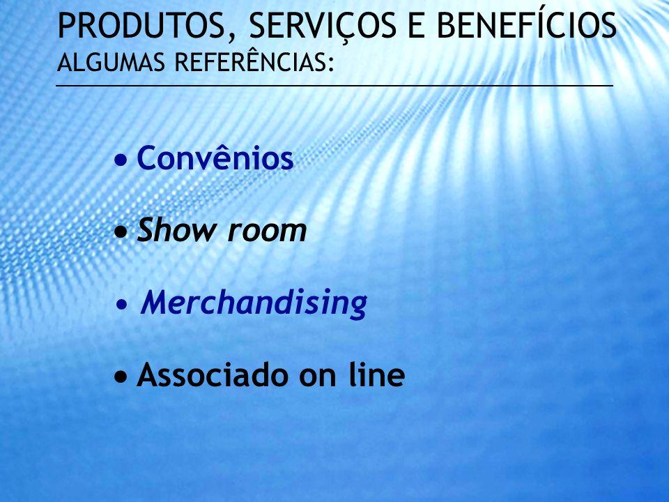 Carta de exclusividade Agenda de associados Banner com acesso ao site Mailing de empresas associadas PRODUTOS, SERVIÇOS E BENEFÍCIOS ALGUMAS REFERÊNCI