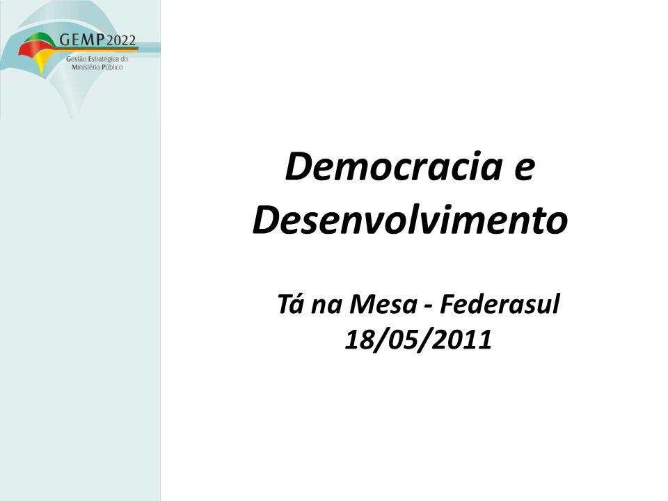 Democracia e Desenvolvimento Tá na Mesa - Federasul 18/05/2011