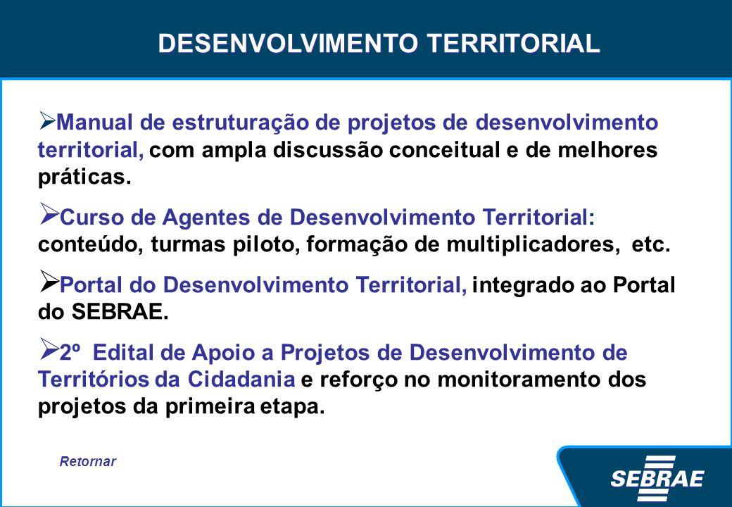 DESENVOLVIMENTO TERRITORIAL Manual de estruturação de projetos de desenvolvimento territorial, com ampla discussão conceitual e de melhores práticas.