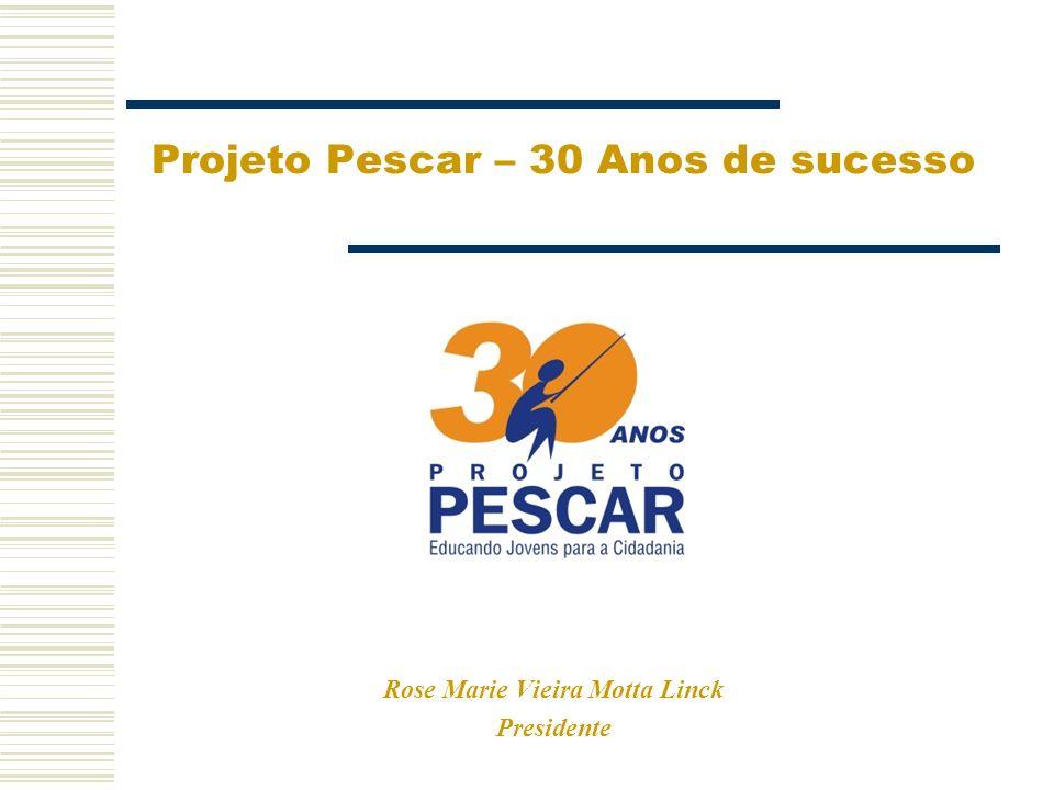 O Começo 1988 - Franquia Social 1995 - Fundação Projeto Pescar 1976 – Projeto Pescar Unidade Geraldo Linck 15 meninos