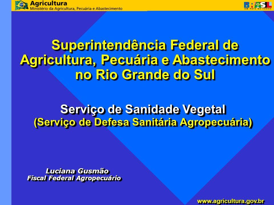 www.agricultura.gov.brwww.agricultura.gov.br Superintendência Federal de Agricultura, Pecuária e Abastecimento no Rio Grande do Sul Serviço de Sanidad