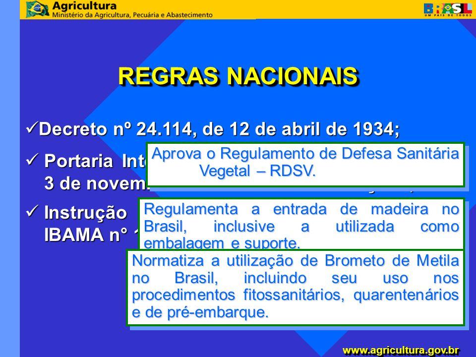 www.agricultura.gov.brwww.agricultura.gov.br Instrução Normativa Conjunta SDA/ANVISA/ IBAMA n° 1, de 10 de setembro de 2002; Instrução Normativa Conju