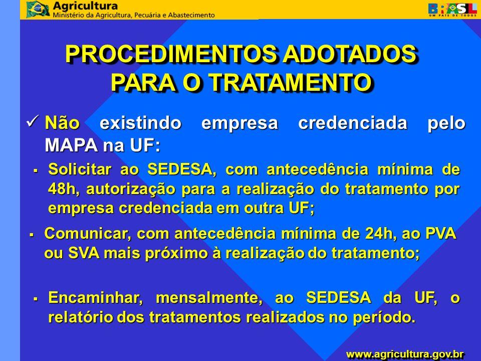 www.agricultura.gov.brwww.agricultura.gov.br Não existindo empresa credenciada pelo MAPA na UF: Não existindo empresa credenciada pelo MAPA na UF: PRO
