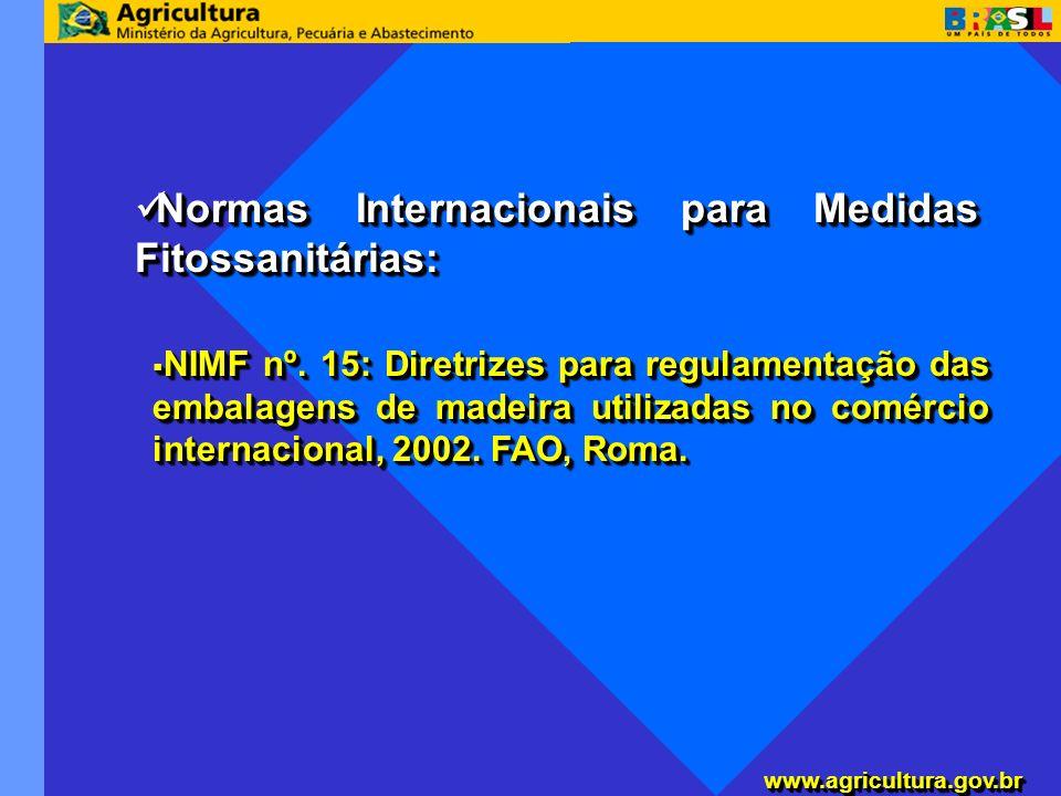 www.agricultura.gov.brwww.agricultura.gov.br Instrução Normativa Conjunta SDA/ANVISA/ IBAMA n° 1, de 10 de setembro de 2002; Instrução Normativa Conjunta SDA/ANVISA/ IBAMA n° 1, de 10 de setembro de 2002; Portaria Interministerial MMA/MF nº.