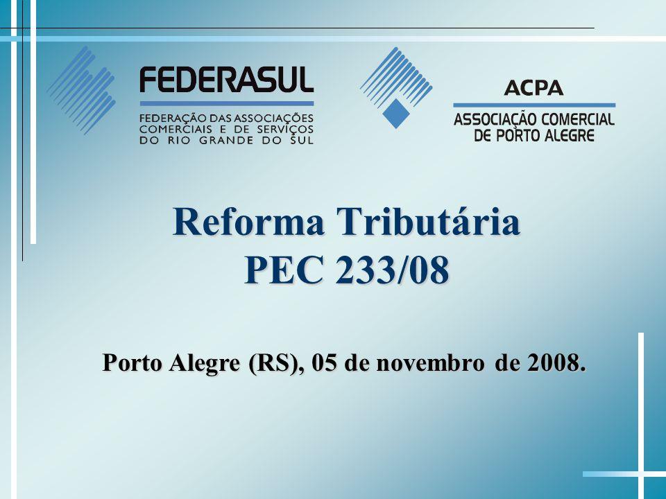 Reforma Tributária PEC 233/08 Porto Alegre (RS), 05 de novembro de 2008.
