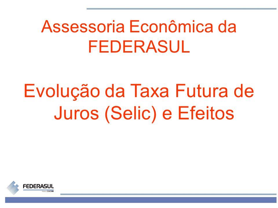 1 Assessoria Econômica da FEDERASUL Evolução da Taxa Futura de Juros (Selic) e Efeitos