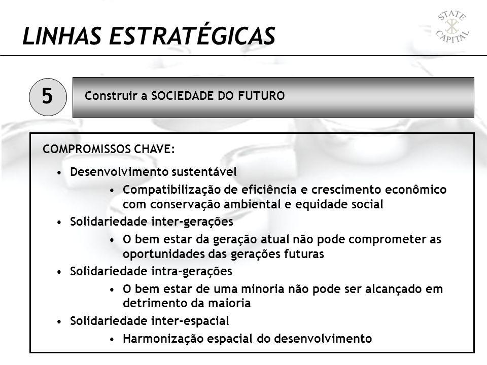 LINHAS ESTRATÉGICAS Desenvolvimento sustentável Compatibilização de eficiência e crescimento econômico com conservação ambiental e equidade social Sol