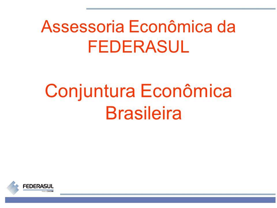 1 Assessoria Econômica da FEDERASUL Conjuntura Econômica Brasileira