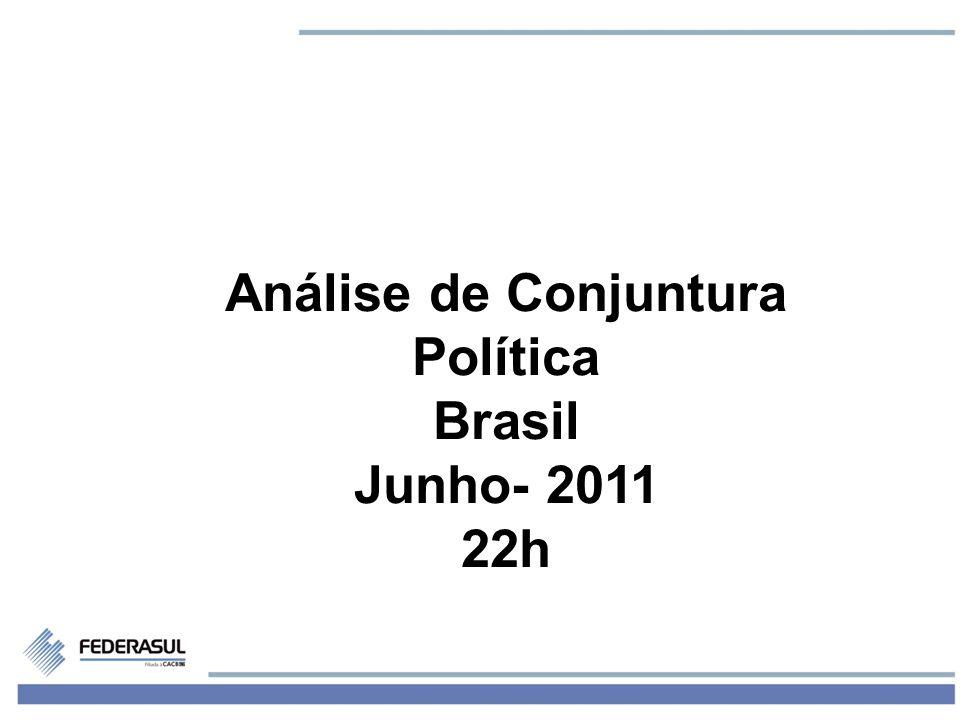 1 Análise de Conjuntura Política Brasil Junho- 2011 22h