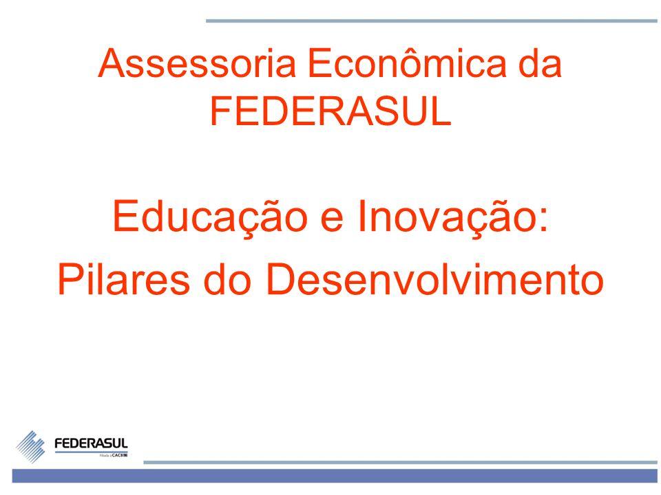 1 Assessoria Econômica da FEDERASUL Educação e Inovação: Pilares do Desenvolvimento