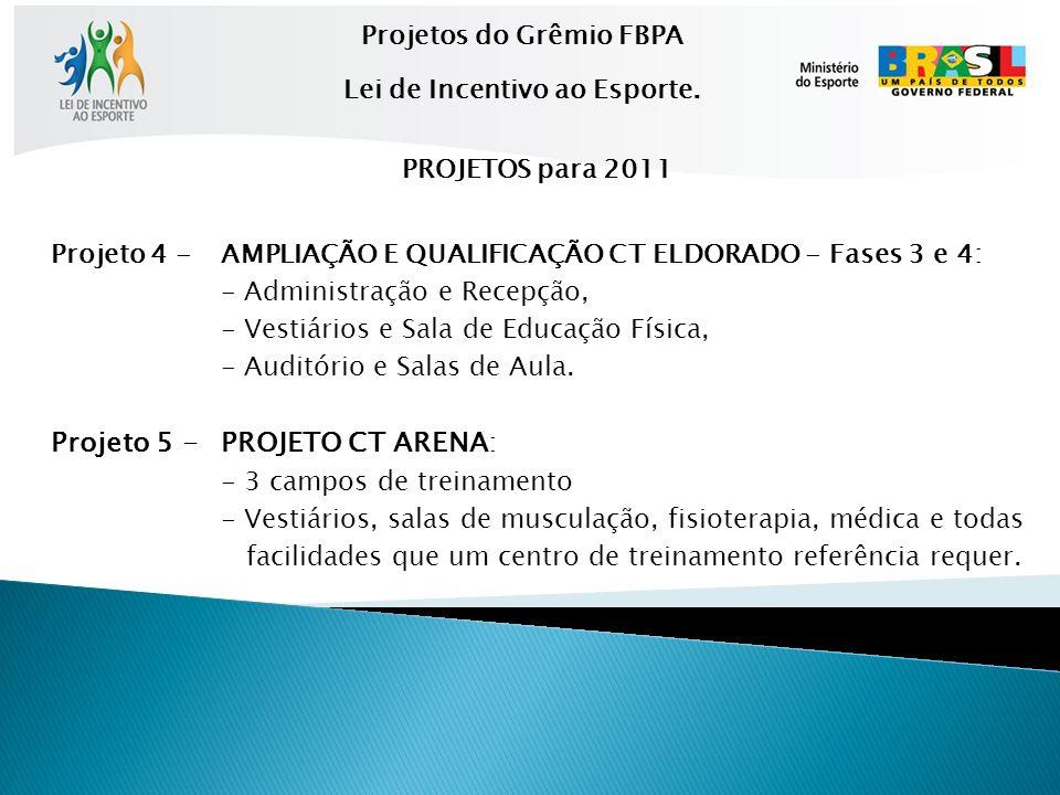 Projeto 4 -AMPLIAÇÃO E QUALIFICAÇÃO CT ELDORADO - Fases 3 e 4: - Administração e Recepção, - Vestiários e Sala de Educação Física, - Auditório e Salas