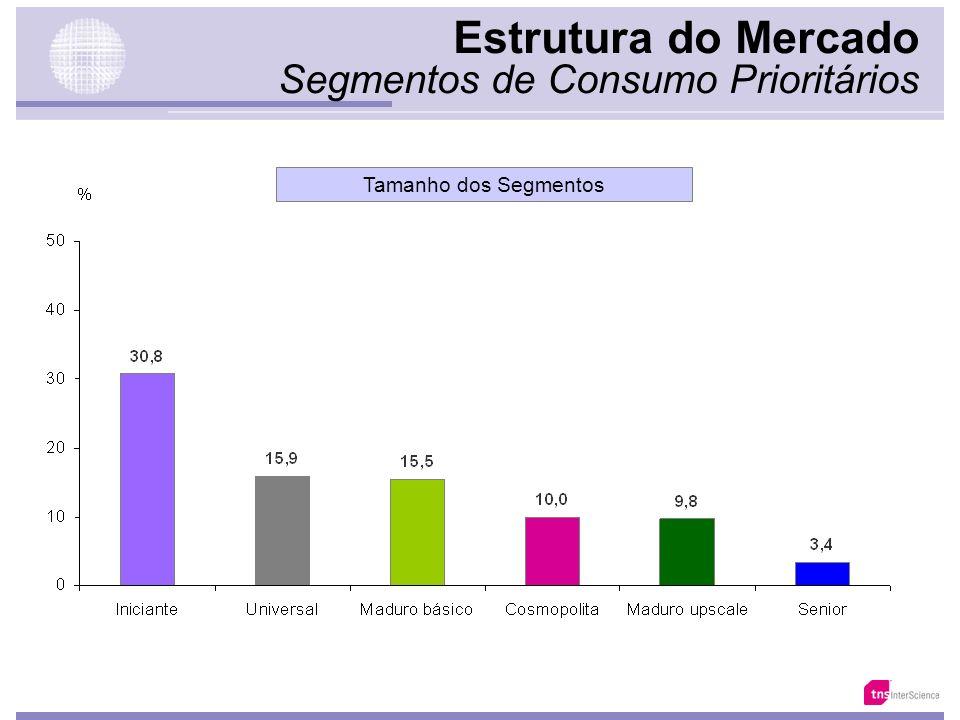 Estrutura do Mercado Segmentos de Consumo Prioritários Singles 59.938 21,7% Casal Jovem 78.908 28,5% Casal Maduro 87.913 31,8% Idosos* 18.807 6,8% Nov