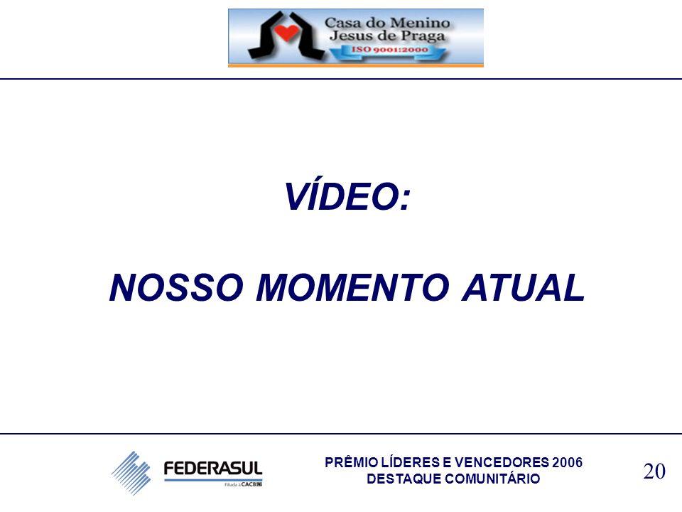 VÍDEO: NOSSO MOMENTO ATUAL 20 PRÊMIO LÍDERES E VENCEDORES 2006 DESTAQUE COMUNITÁRIO