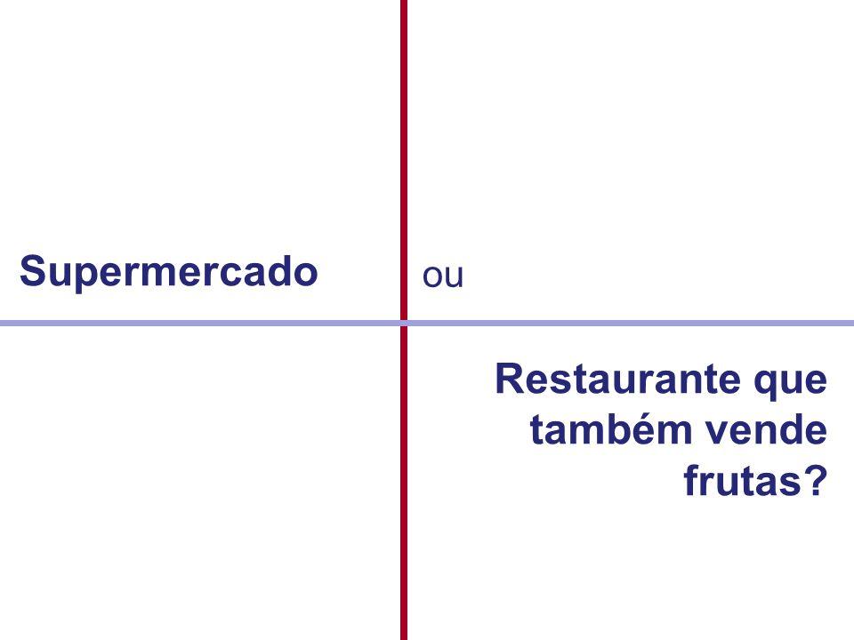 Supermercado ou Restaurante que também vende frutas?