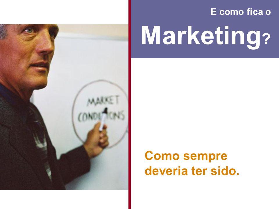 E como fica o Marketing ? Como sempre deveria ter sido.