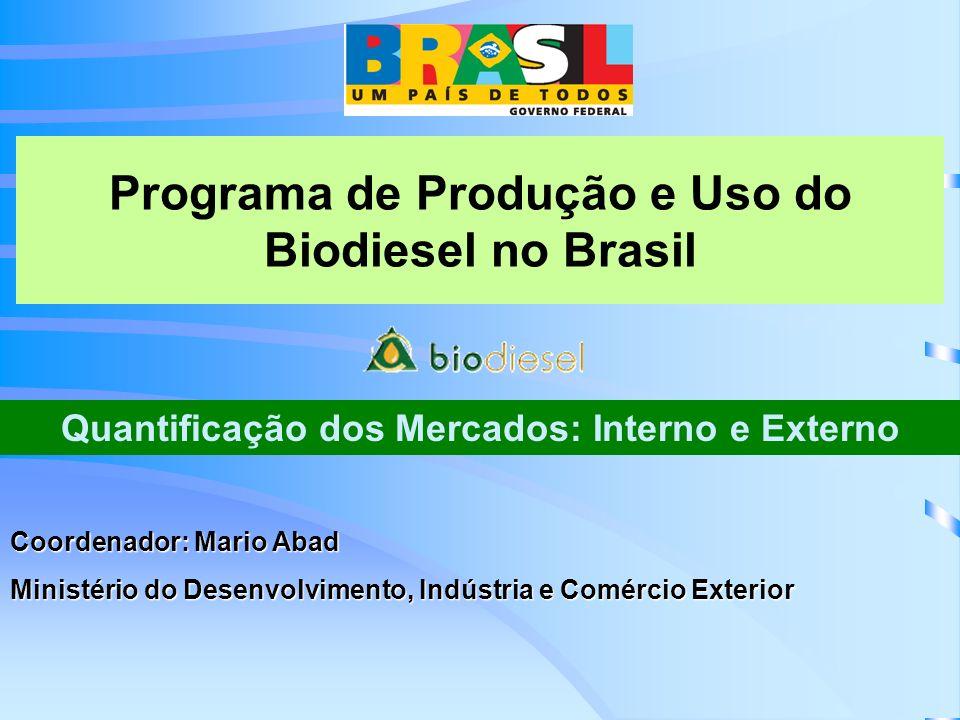 Brasil - Consumo de Diesel por Região, ano 2003, e cenários de consumo potencial de Biodiesel (m 3 ).