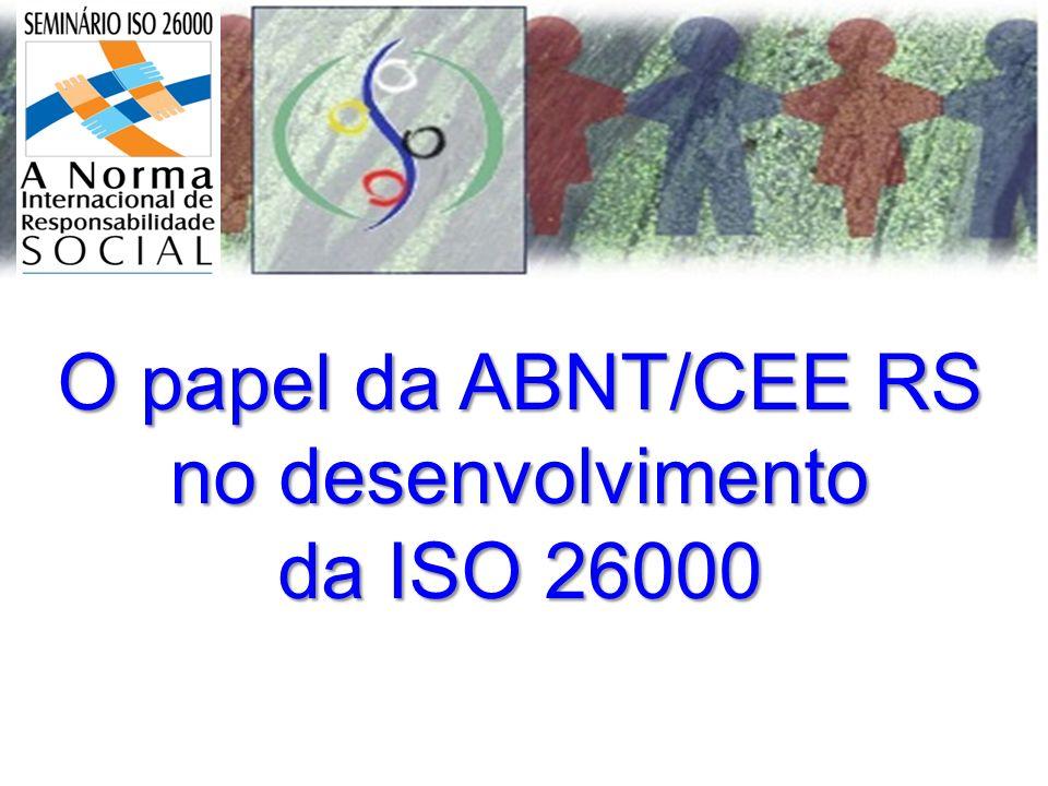 O papel da ABNT/CEE RS no desenvolvimento da ISO 26000