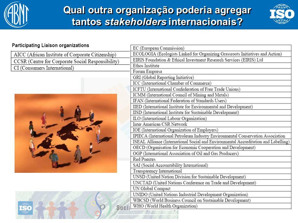 12 Qual outra organização poderia agregar tantos stakeholders internacionais?