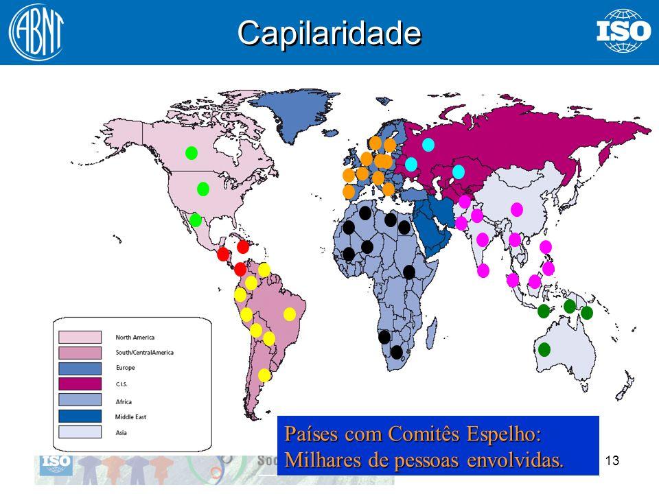 13 Capilaridade Países com Comitês Espelho: Milhares de pessoas envolvidas.
