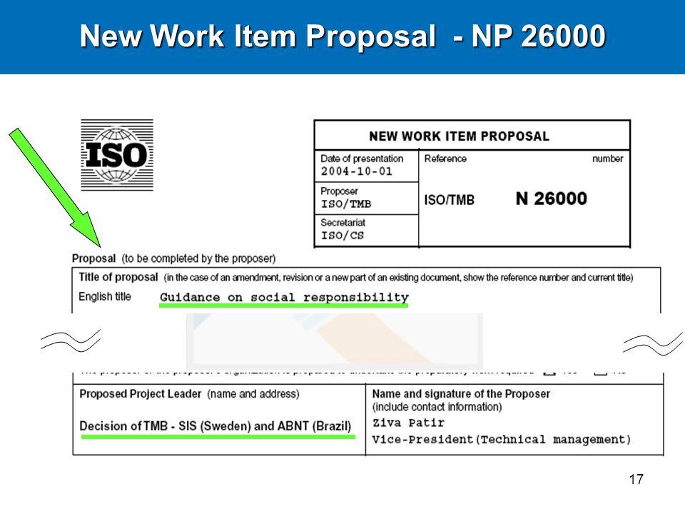 17 New Work Item Proposal - NP 26000
