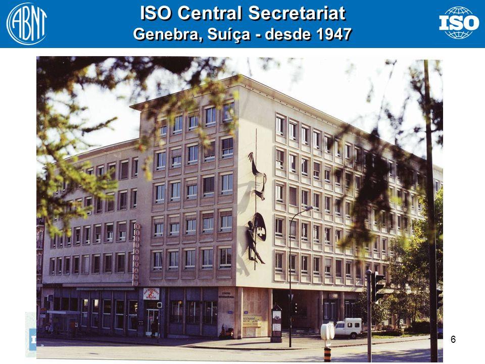 6 ISO Central Secretariat Genebra, Suíça - desde 1947