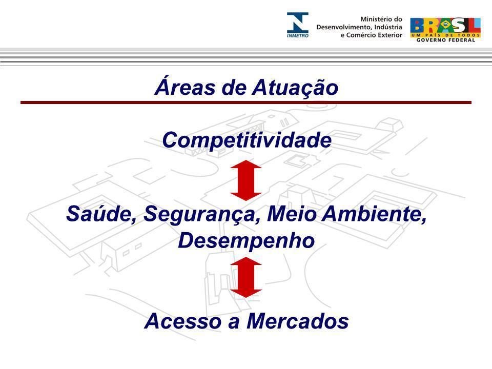 Competitividade Saúde, Segurança, Meio Ambiente, Desempenho Acesso a Mercados Áreas de Atuação