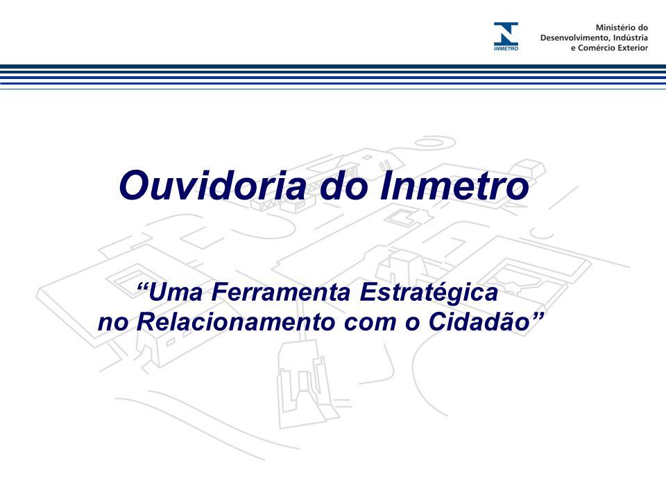Marca do evento Ouvidoria do Inmetro Uma Ferramenta Estratégica no Relacionamento com o Cidadão