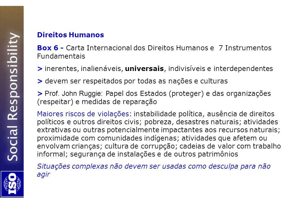 Direitos Humanos Box 6 - Carta Internacional dos Direitos Humanos e 7 Instrumentos Fundamentais > inerentes, inalienáveis, universais, indivisíveis e