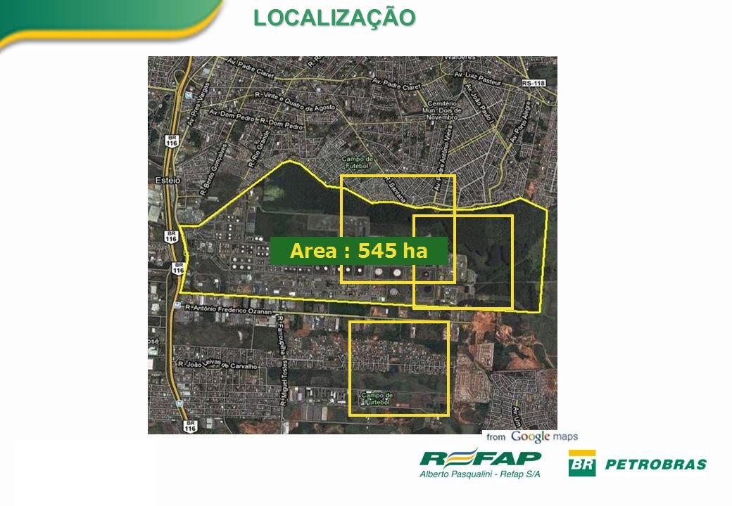 Area : 545 ha LOCALIZAÇÃO