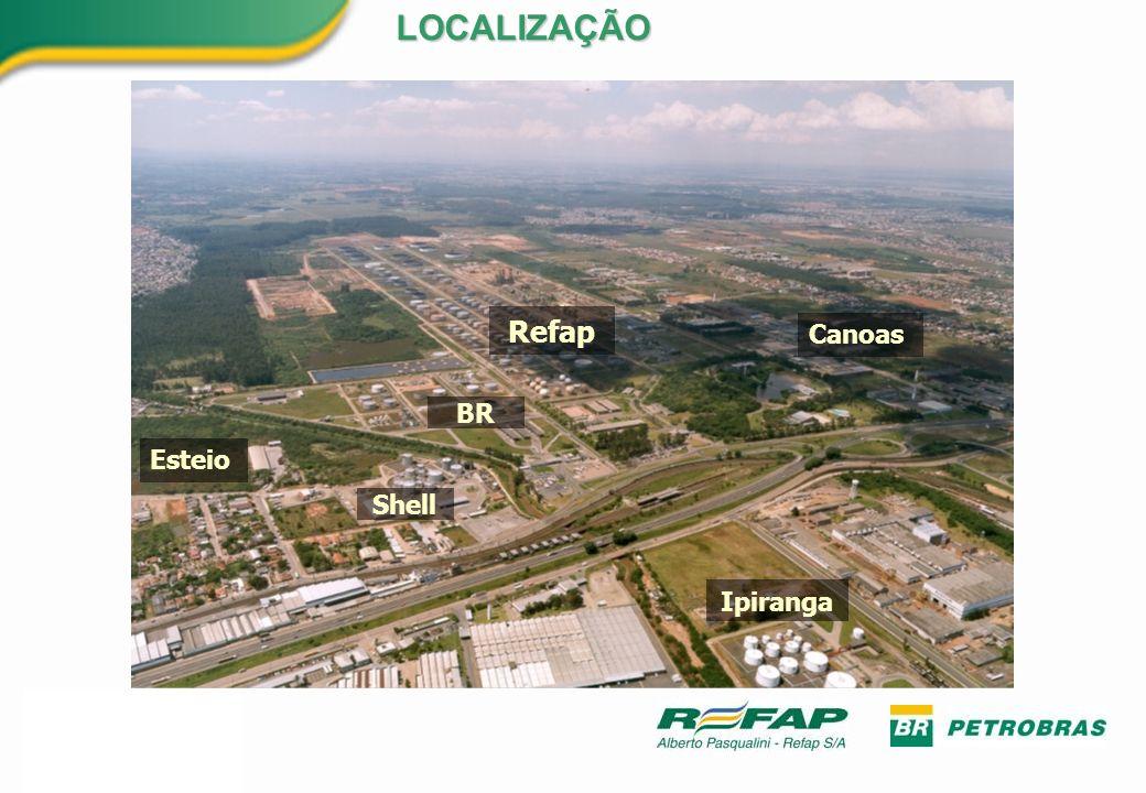 Objetivos Aumentar a complexidade (EDC) Processar petróleos mais pesados (Brasileiros) Aumentar a margem de refino Aumentar a qualidade dos produtos Novos produtos Aumentar a Eficiência Energética Reduzir os impactos ambientais AMPLIAÇÃO DE 2006