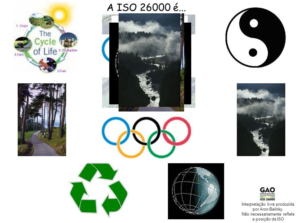 Seminário Internacional ABNT-Normalização em RS Agenda das ONGs Brasileiras na ISO 26000 A ISO 26000 é... Interpretação livre produzida por Aron Belin
