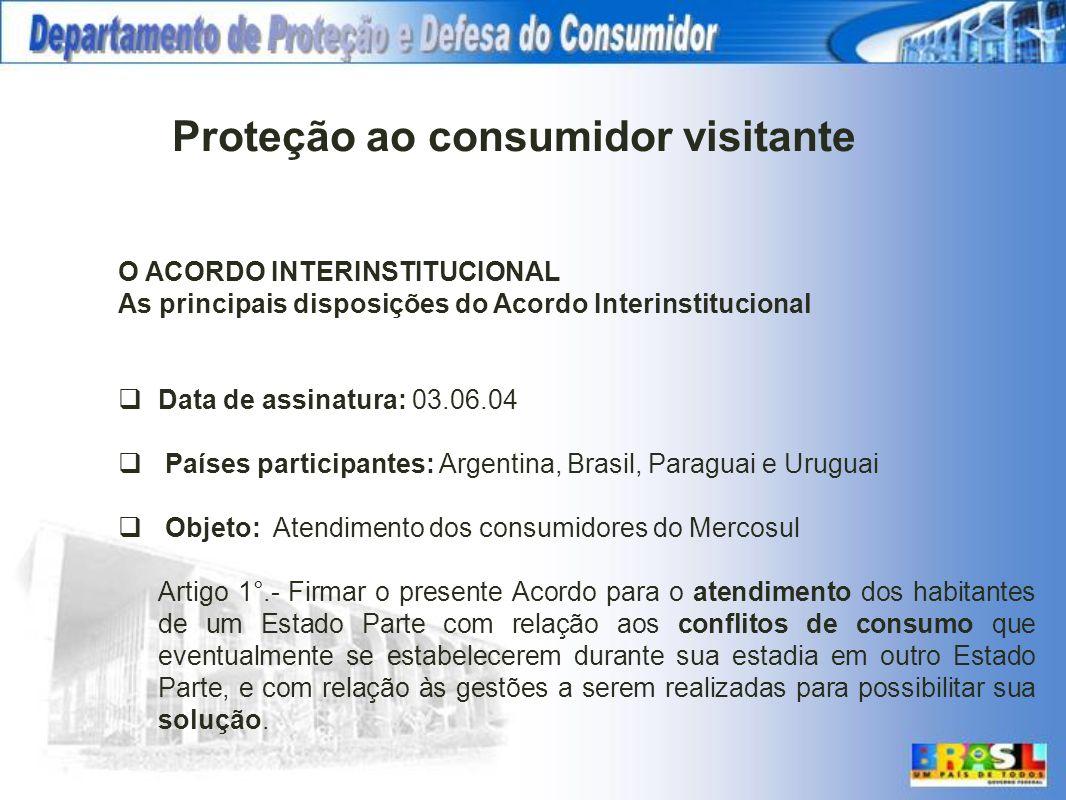 O ACORDO INTERINSTITUCIONAL As principais disposições do Acordo Interinstitucional Data de assinatura: 03.06.04 Países participantes: Argentina, Brasi