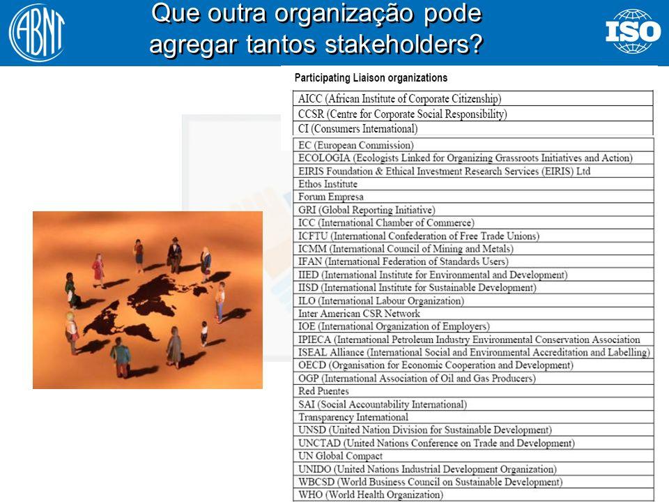 43 Que outra organização pode agregar tantos stakeholders?
