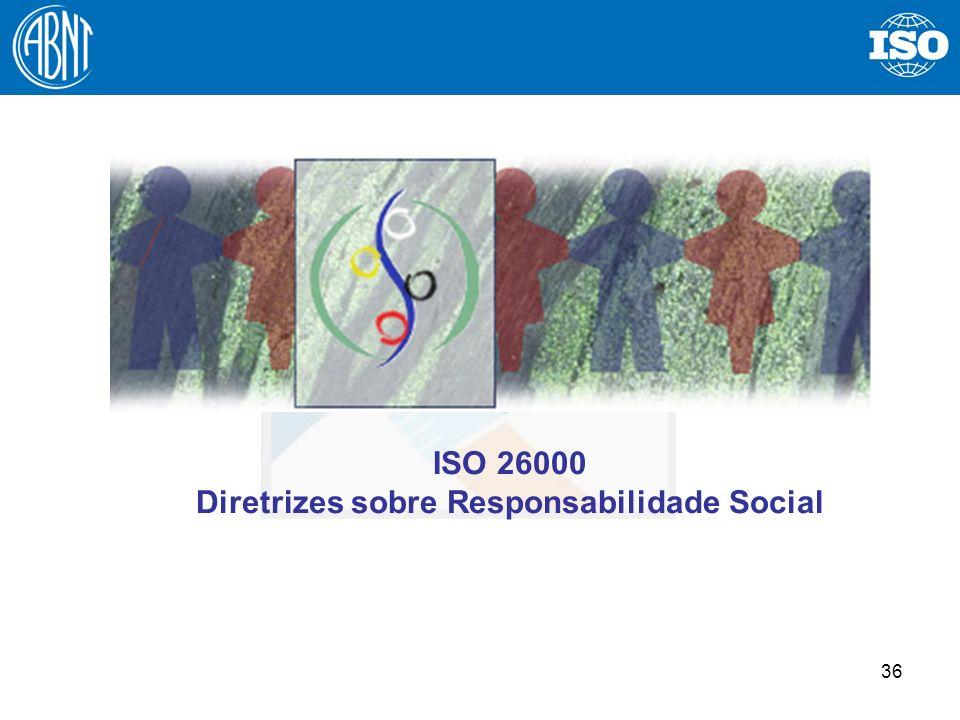 36 ISO 26000 Diretrizes sobre Responsabilidade Social
