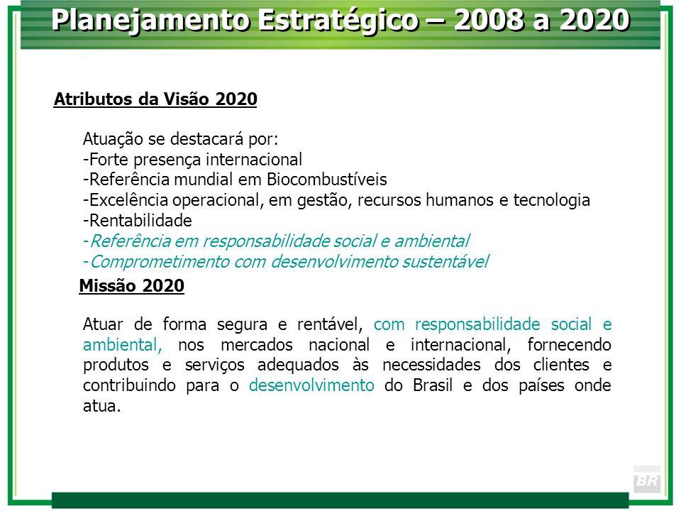 Atuação se destacará por: -Forte presença internacional -Referência mundial em Biocombustíveis -Excelência operacional, em gestão, recursos humanos e