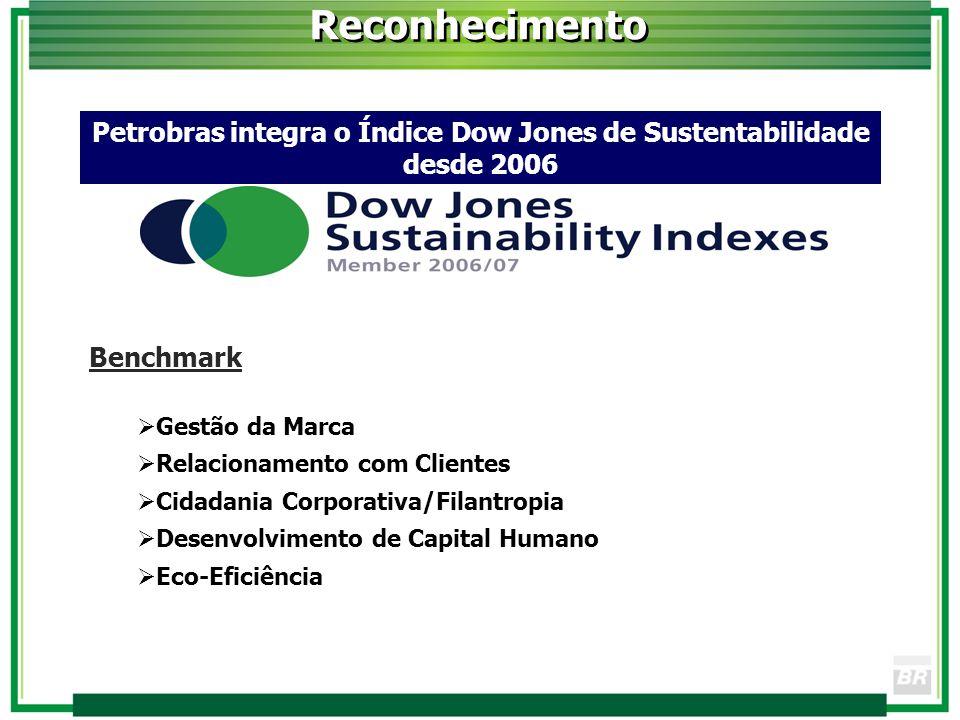 Reconhecimento Benchmark Gestão da Marca Relacionamento com Clientes Cidadania Corporativa/Filantropia Desenvolvimento de Capital Humano Eco-Eficiênci